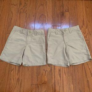 TWO Pairs Boys J Khaki Shorts